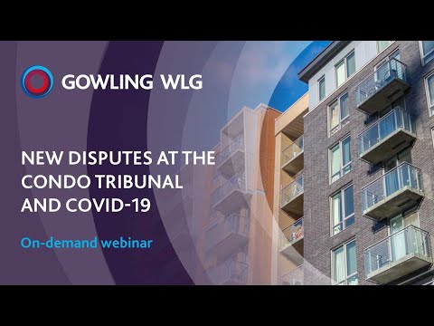 New disputes at the Condo Tribunal and COVID-19