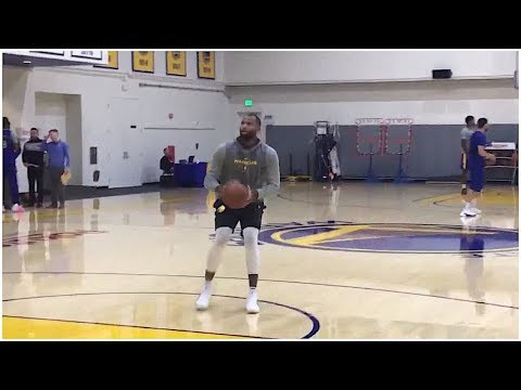 DeMarcus Cousins Looking Good At Warriors Practice, Has Shooting Contest With Klay Thompson