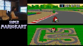 "Super Mario Kart - Mario Circuit 3 - 1'50""37 by meauxdal (20""43 flap)"