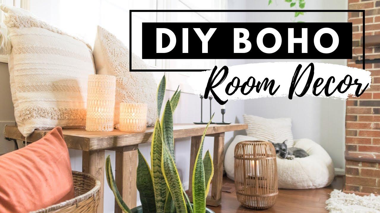 Diy Boho Room Decor On A Budget Bohemian Living Room Home Decor Youtube