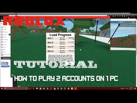 How To Play Multiple Roblox Games At Once Roblox Tutorial Play With 2 Accounts On 1 Pc Youtube