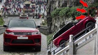 видео Лестница в небеса: Range Rover Sport PHEV поднялся к арке на горе Тяньмэнь