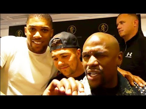 FLOYD MAYWEATHER PLANS TO HELP ANTHONY JOSHUA TIGHTEN UP DEFENSE; GIVES HIM MAJOR PROPS