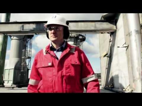 Mineral fertilizer production in Yara plant in Porsgrunn, Norway