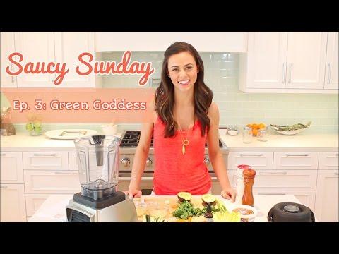Saucy Sunday: AVOCADO GREEN GODDESS {Salad Dressing + Dip!}