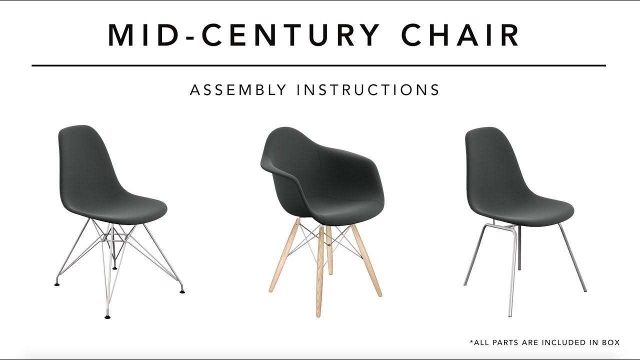 Mid Century Chair Assembly Instructions