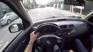 Suzuki Swift '09 1.3 92 HP POV TEST DRIVE | AUTO START