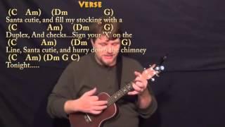 Santa Baby - Ukulele Cover Lesson in C with Chords/Lyrics