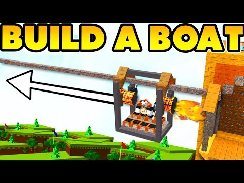 Zip-lines in BUILD A BOAT! (Create your own track!)