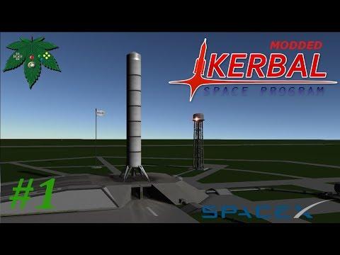 Learning kOS and Autonomous Flying! - Falcon Heavy Sandbox Countdown #1 (Modded KSP)