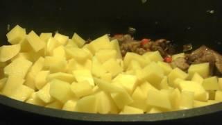 ♨️Тушеная Зелёная фасоль с мясом и картошкой.♨️Grüne Bohnen mit Fleisch und Kartoffeln.
