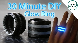 Cheapest Way to Make Carbon Fiber Glow Rings - DIY