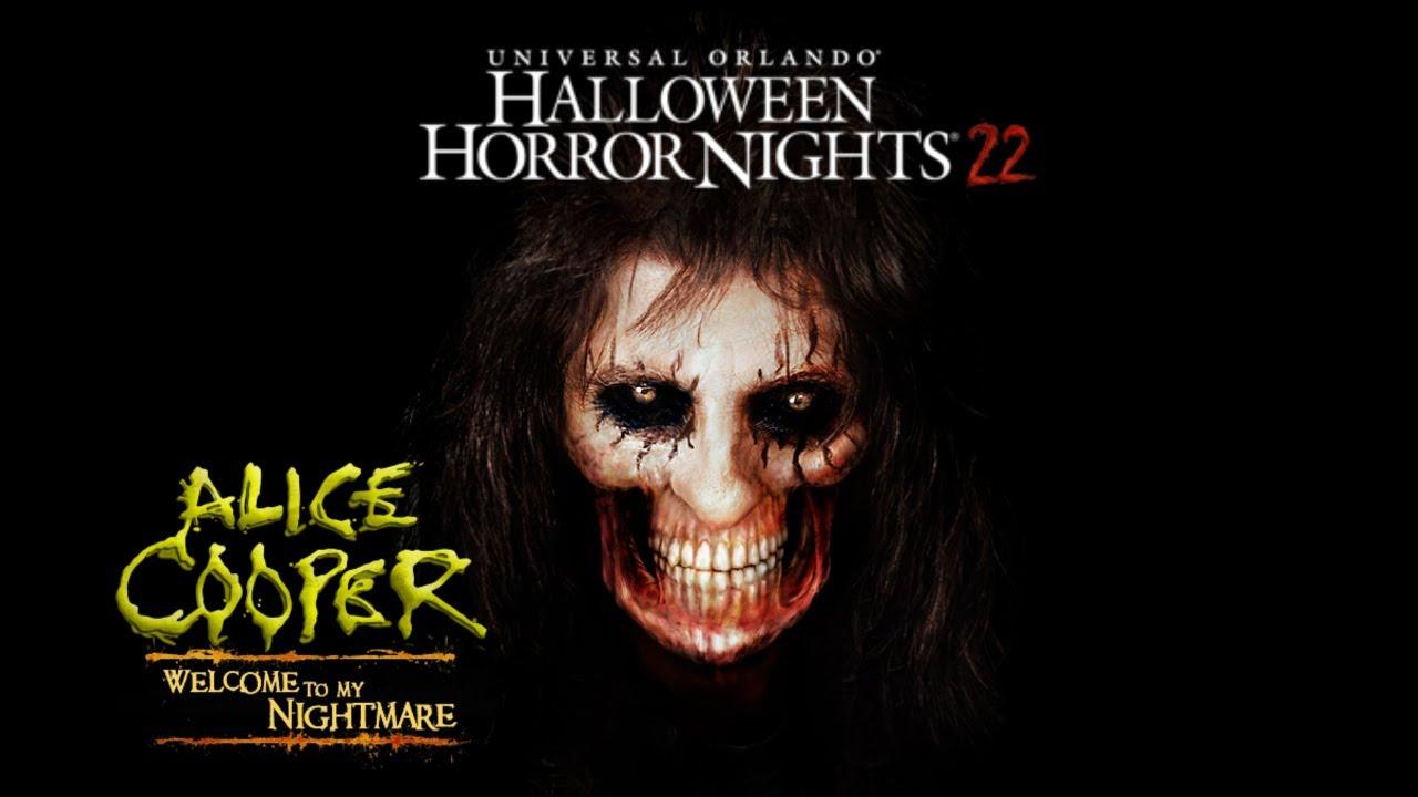 halloween horror nights 22 orlando alice cooper house walk thru youtube
