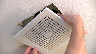 How to replace or repair a bathroom fan