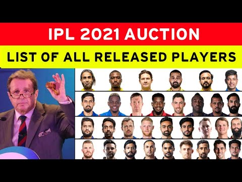 Download IPL 2021 AUCTION - ALL RELEASED PLAYERS LIST BY 8 TEAMS | DC, RCB, CSK, KKR, MI, SRH, KXIP, RR