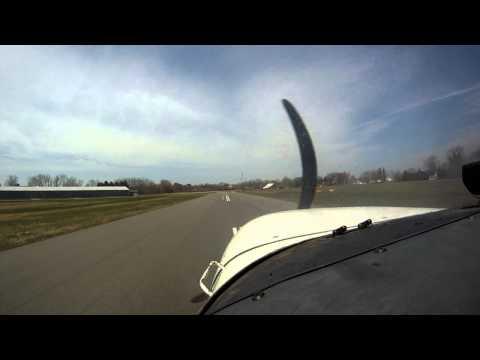 Cockpit Landing 7B2 Northampton MA Airport