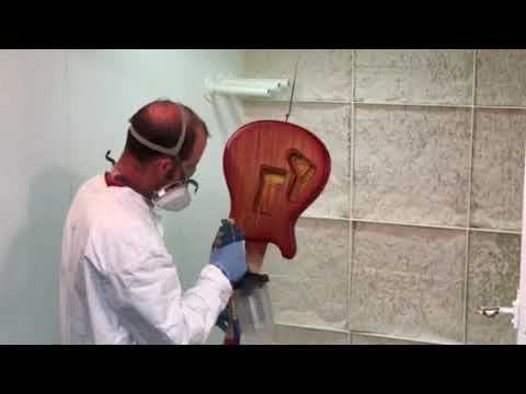 Guitar build with Paul Reed Smith - Spraying color on the back  (Step #1)