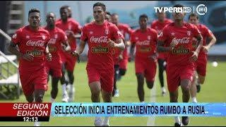 Selección peruana inicia entrenamientos para afrontar amistoso ante Escocia
