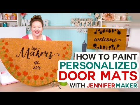 Make Personalized Door Mats with a Cricut! (Freezer Paper + Flex Seal Method!)