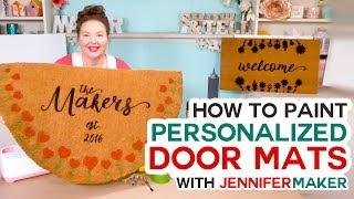 Make Personalized Door Mats with a Cricut! (Freezer Paper + Flex Seal Method!)