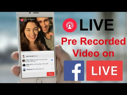 Live Broadcast Pre Recorded Video on Facebook Page, Profile & Group