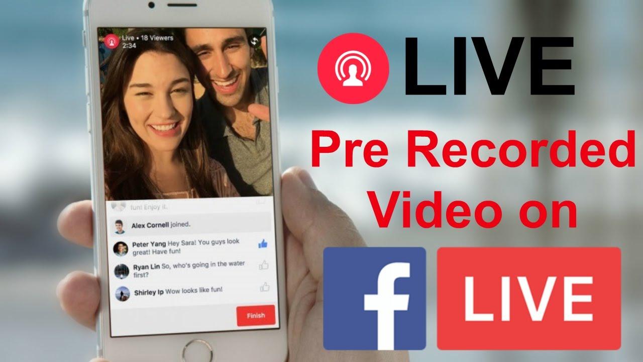 Prerecorded Videos to Facebook page