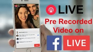 Live Broadcast Pre Recorded Video on Facebook Page, Profile & Group(How to Live Broadcast old / Pre Recorded Video on Facebook Page, Timeline, Profile & Group. If you want to stream your pre-recorded video content via ..., 2016-12-29T05:30:00.000Z)