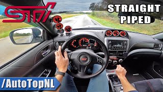 SUBARU WRX STi *STRAIGHT PIPED* POV Test Drive by AutoTopNL