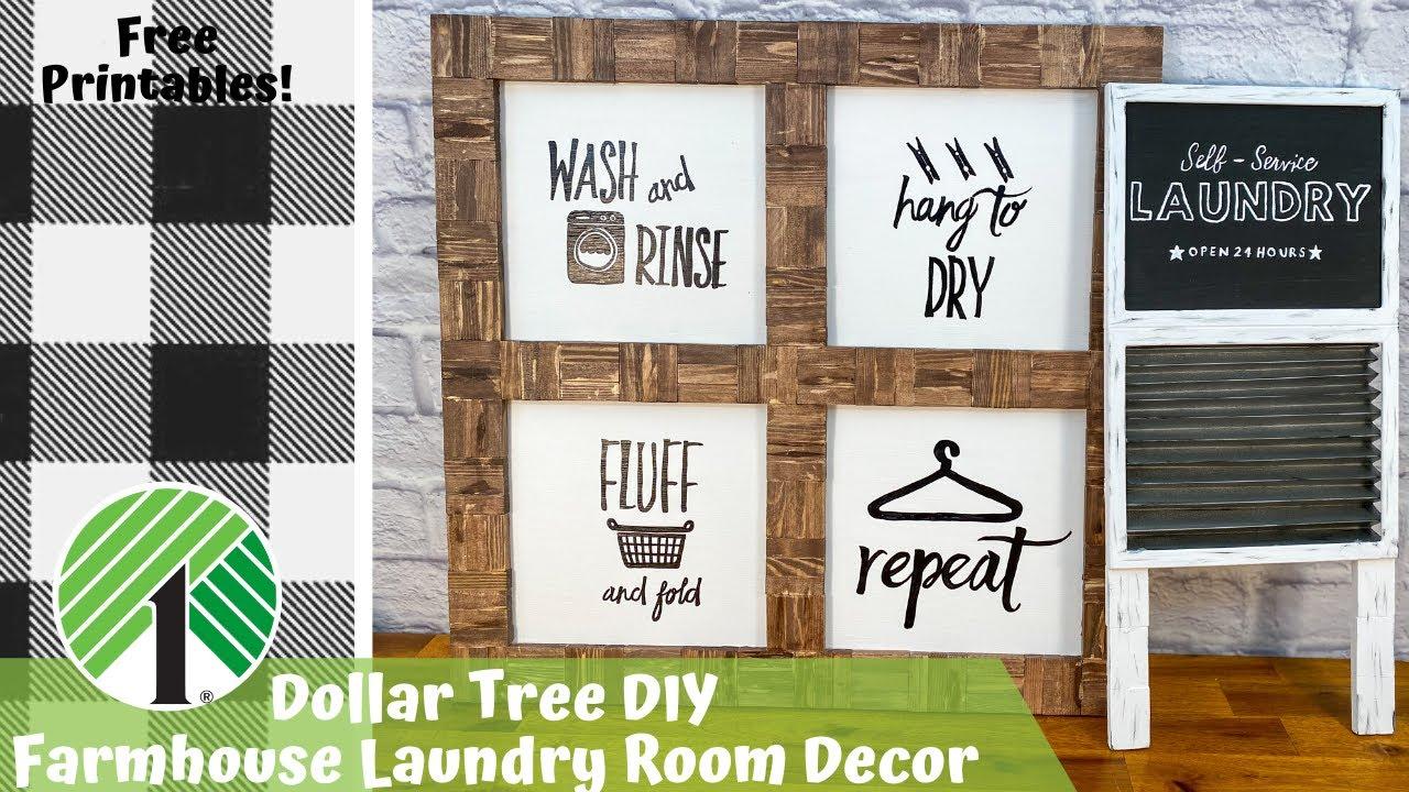 Dollar Tree Diy Diy Farmhouse Decor Farmhouse Laundry Room Farmhouse Wood Sign Youtube
