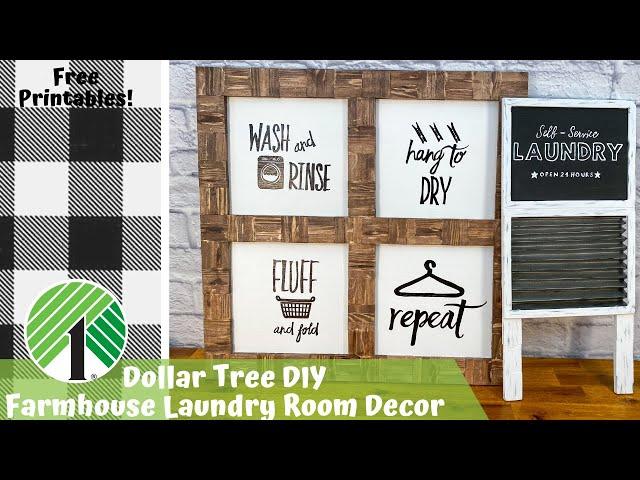 Dollar Tree DIY   DIY Farmhouse Decor   Farmhouse Laundry Room   Farmhouse Wood Sign