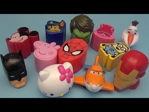 Surprise Egg Opening Memory Game for Kids!  Disney Batman Hello Kitty Peppa Pig!