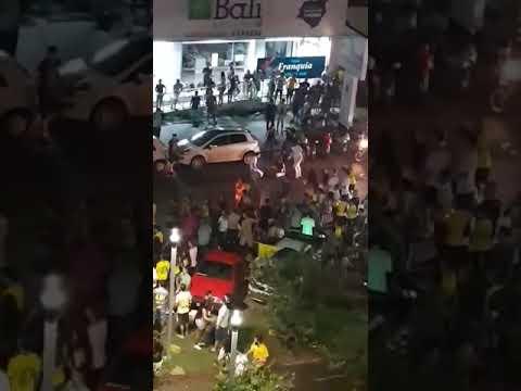 Sinop: Homens caem de camionete durante comemoração