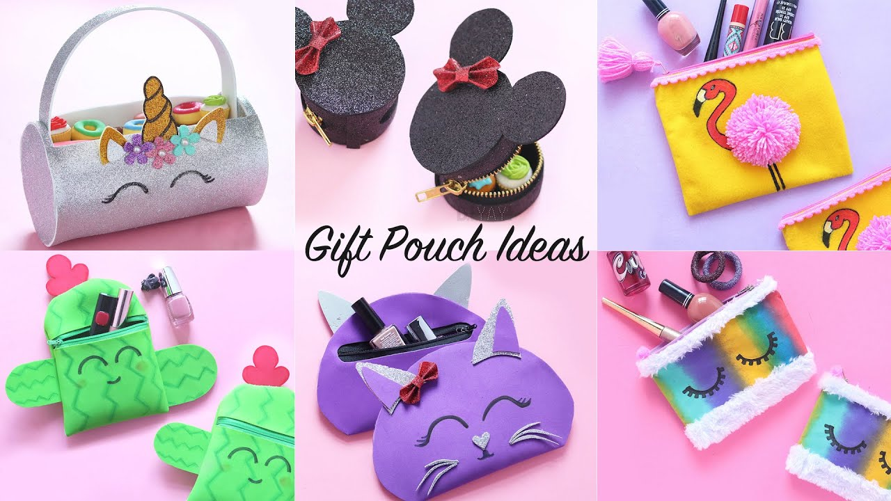6 Easy Gift Pouch Ideas   Gift Ideas   Pouch DIY
