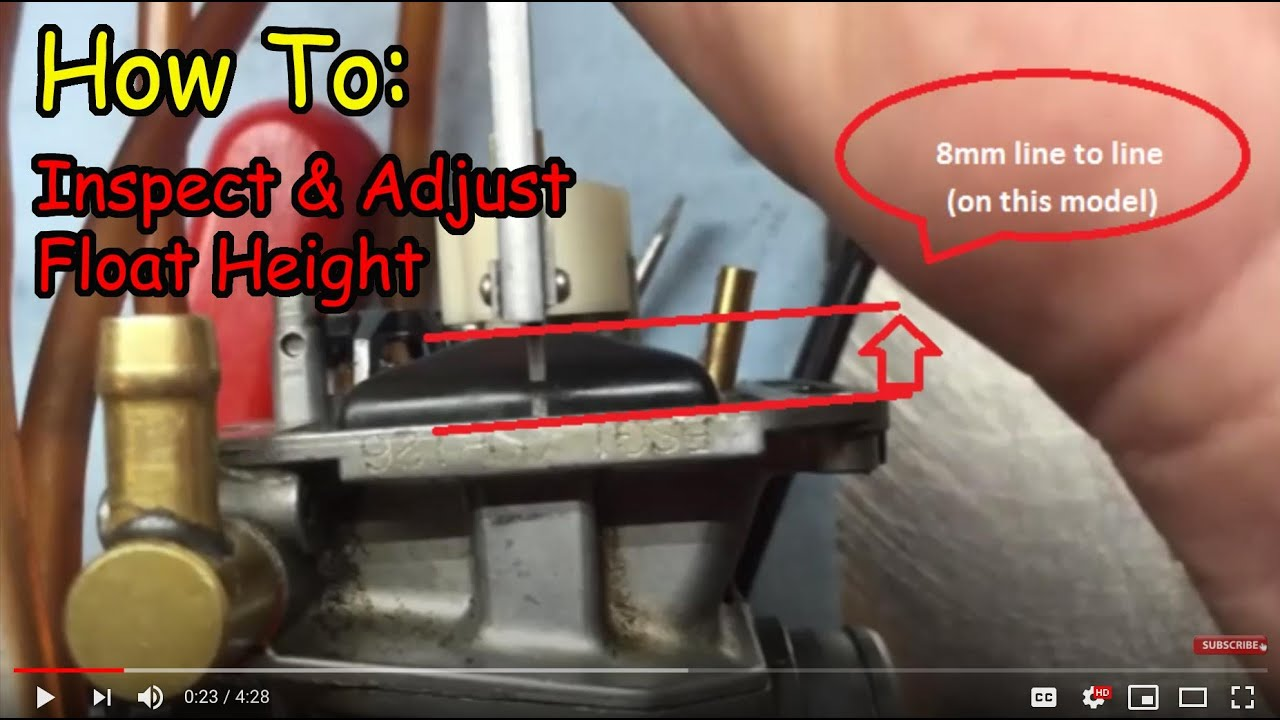 Float Height Inspection And Adjustment The Right Wrong Way Demo 1991 Yamaha 115 Wiring Diagram Schematic On Yz250f Youtube