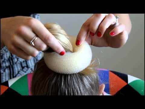 How to do a bun with a sock short hair