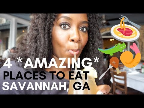4 AMAZING Places to EAT in Savannah, GA