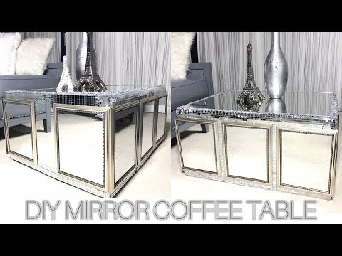 ($20) DIY MIRRORED COFFEE TABLE!! MADE OUT OF CARDBOARD!!
