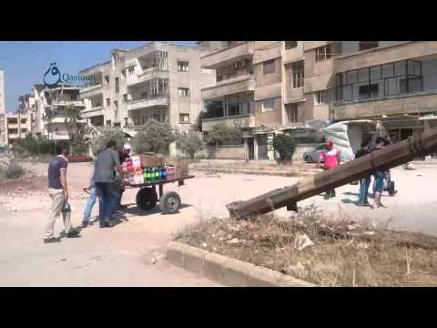 Q.N: Homs: Exchanging pick ups with handled cars due to non-existance of fuel in Al-Waar 28-6-2015