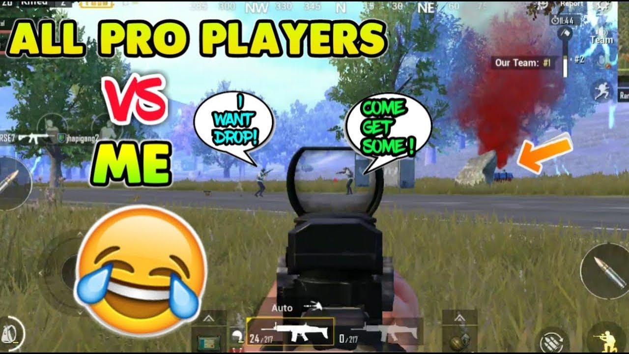 All Pro Players VS ME ! WAR-Rifle Mode Fun !! PUBG MOBILE