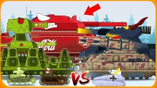Fight for the Christmas tree - Cartoons about tanks