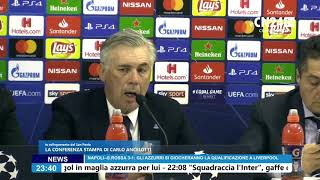 Napoli-Stella Rossa 3-1, Carlo Ancelotti in conferenza post-partita