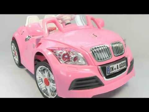 Pink BMW Style Electric Kids Ride on Car - YouTube