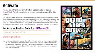GTA V Activation Code Already In Use Fix (99% Works)