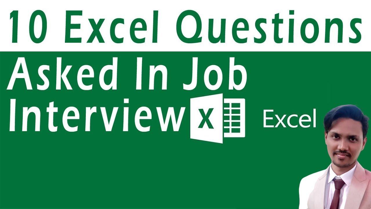 Top 10 Excel Interview Questions For Job Seekers Tutorial In Urdu Or Hindi