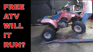 Will It Run? Four Wheeler picked from the trash.