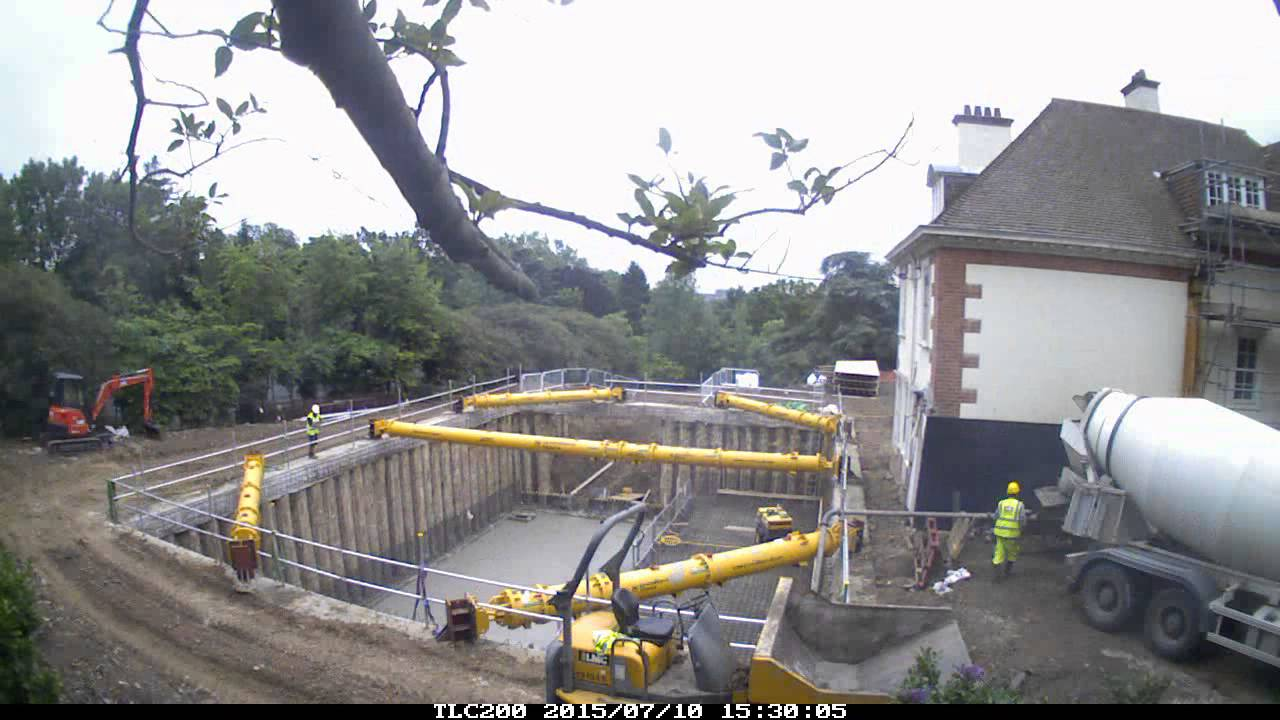 Contiguous Piled Basement Construction   YouTube