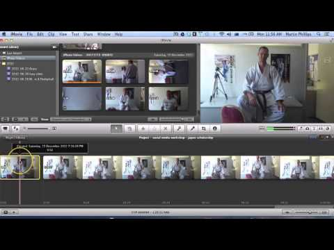 How to trim a video with imovie