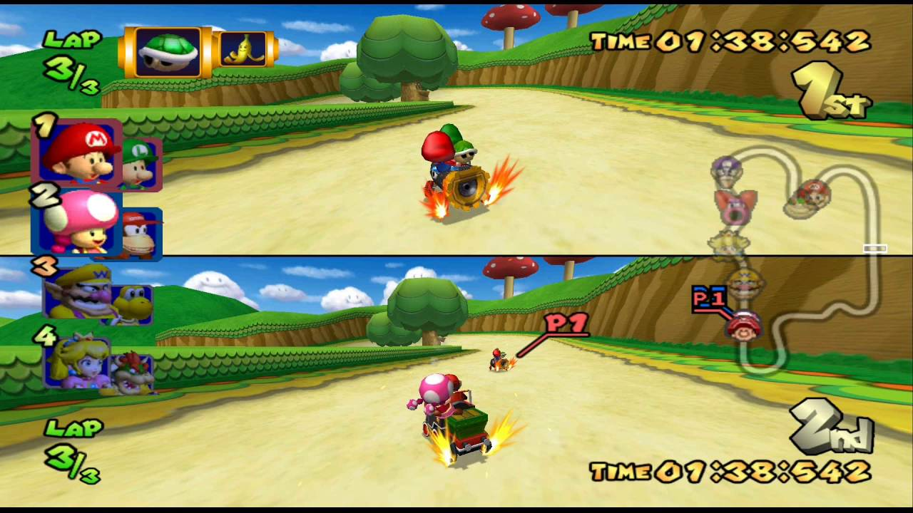 Mario Kart Double Dash Flower Cup 150cc 2 Player 60fps Youtube