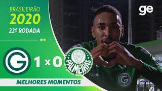 GOIÁS 1 X 0 PALMEIRAS | MELHORES MOMENTOS | 22ª RODADA DO BRASILEIRÃO 2020 | ge.globo