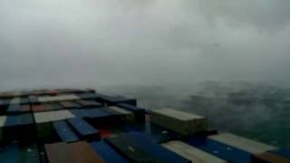 Extreme Cold weather at Sea..Cargo Ship facing storm in North Atlantic